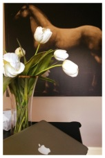 Fresh Flowers and Beautiful Artwork