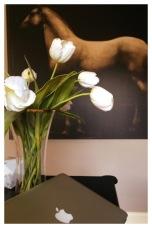 Fresh Flowers and Beautiful Artwork