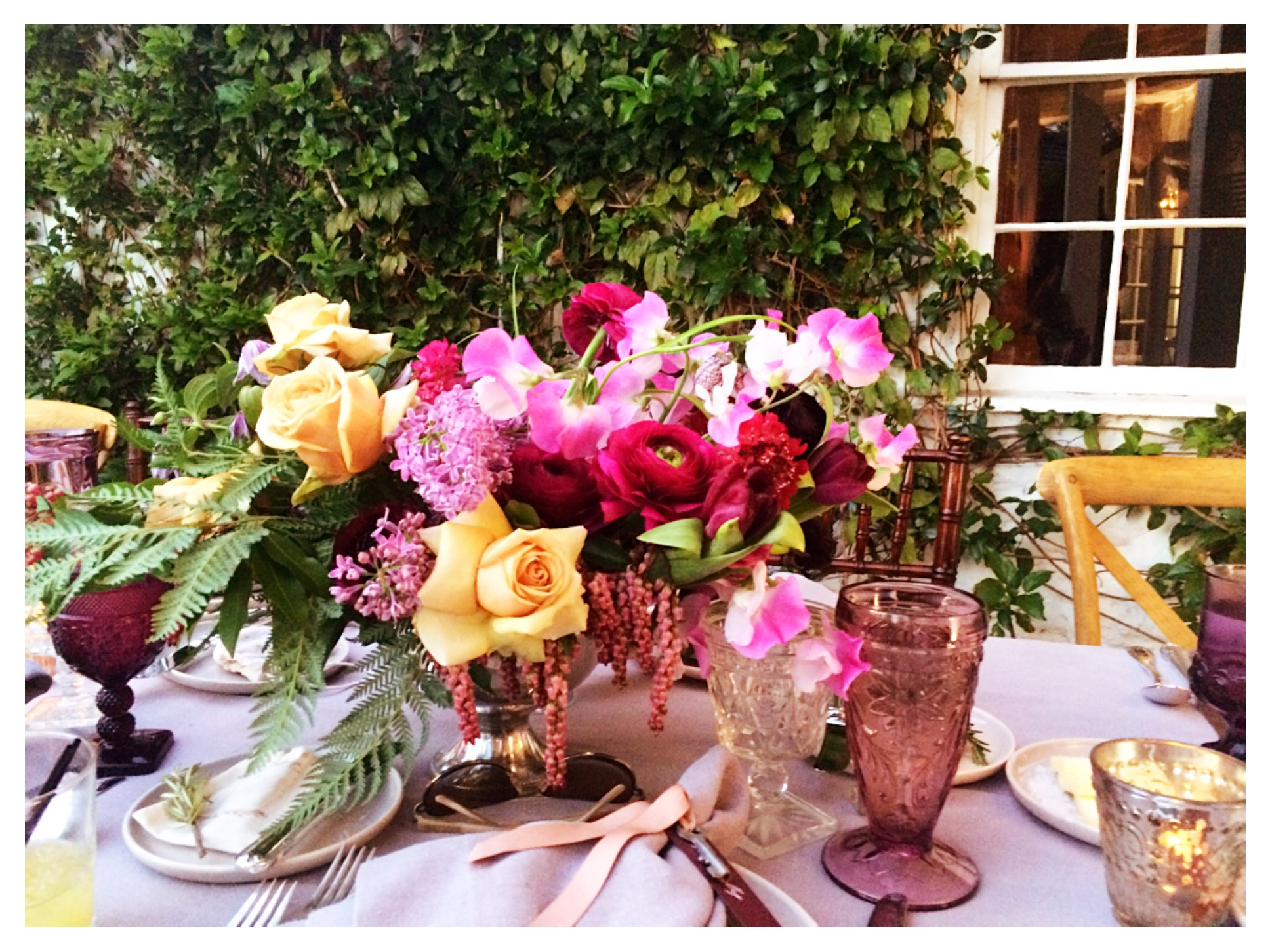Romantic Wine Soaked Floral Arrangements