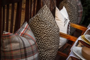Plaid, Leopard and Acorn Pillows by the Collected Nest