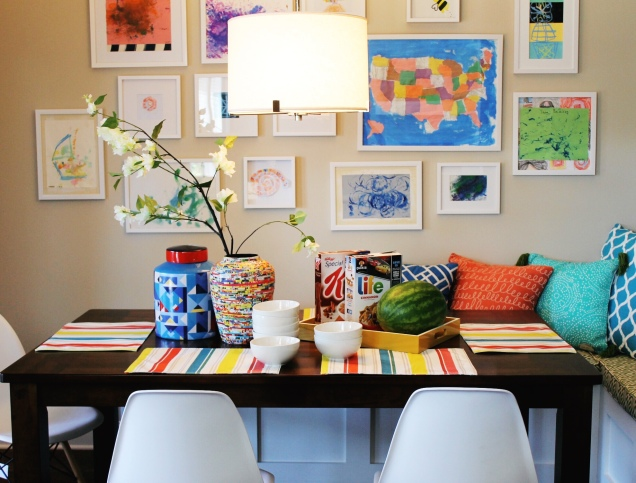 Kid's Art Feature Wall