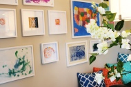 Kid's Art Gallery in Breakfast Nook