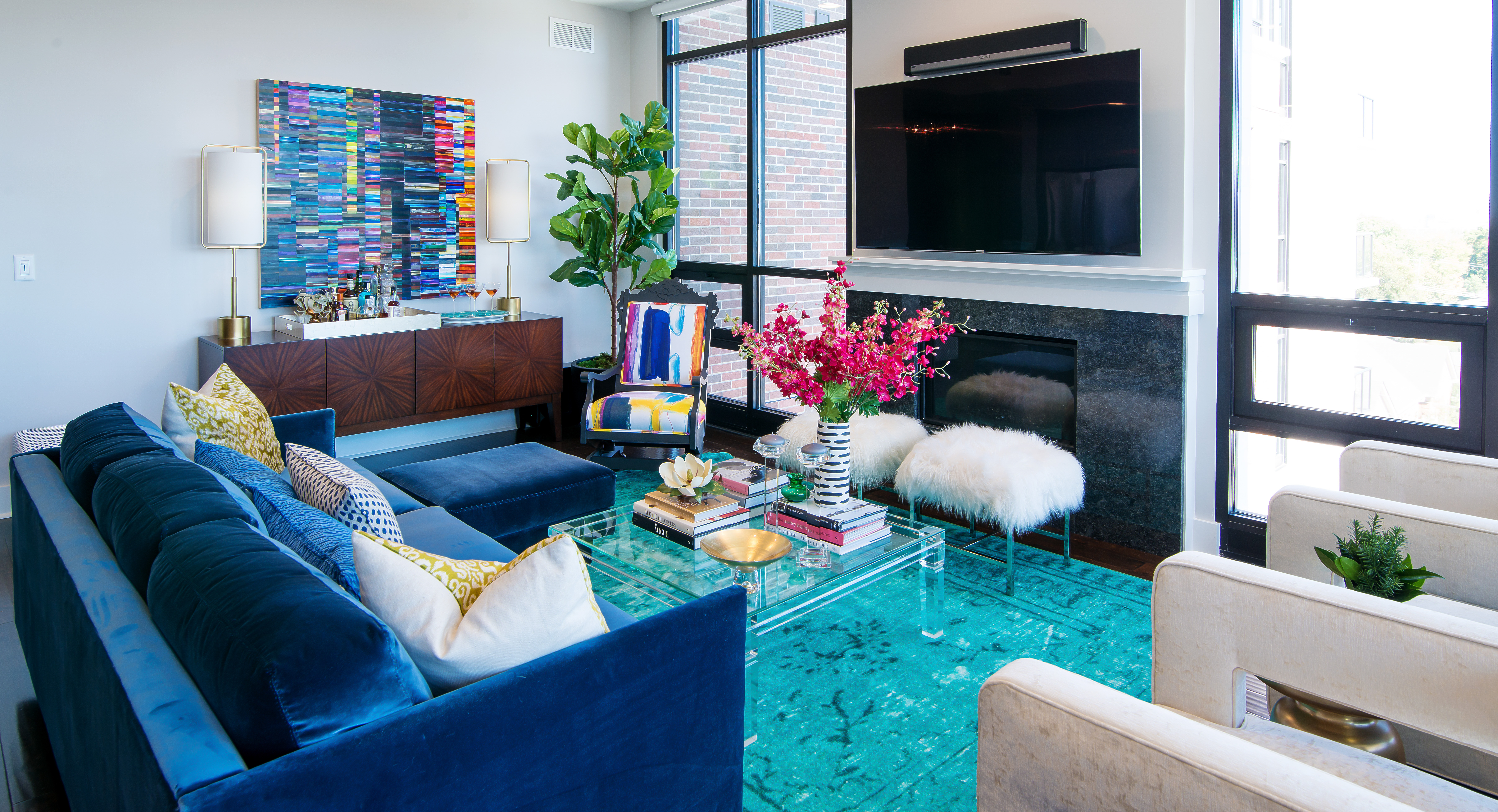 Living Room At Angle. The Interior Design ...
