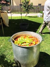 Crawfish Boil in the Making