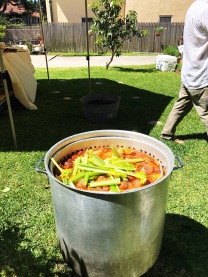 Crawfish Boil in the Making