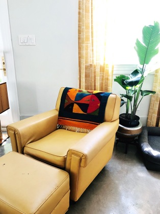 Mid Century Chair and Textile