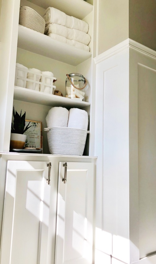 Open Shelving with Cabinet