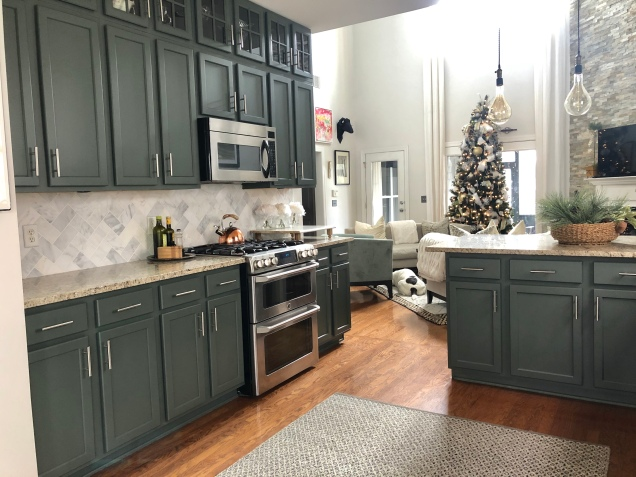 Pewter Green Kitchen